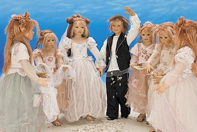 Prince Namor and Princess Mera in the Pledging Ritual - Annette Himstedt 2006 dolls.jpg
